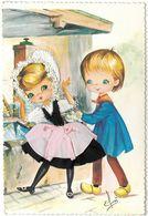 CARTE BRODEE - FRANCHE COMTE N°2 - Illustrateur Elsi - Costumes Régionaux - Brodées
