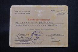 MILITARIA - Allemagne - Document Des Jeunesses Hitlériennes De Tann En 1944 - Reichsschwimmschein - L 68438 - Documentos