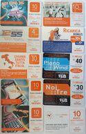 ITALIA-(ITALY)-WIND  -LOTTO 10  SCHEDE - Schede GSM, Prepagate & Ricariche