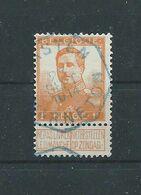 N°116 OBLITERATION TELEGRAPHE WARNETON - 1912 Pellens