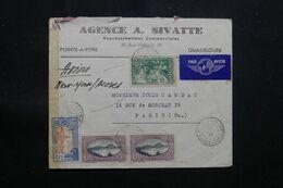 GUADELOUPE - Enveloppe Commerciale De Pointe à Pitre Pour Paris En 1939 Avec Contrôle Postal - L 68443 - Lettres & Documents