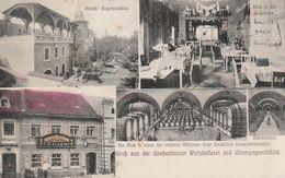 CPA:ALLEMAGNE GRUSS AUS DER GROSSENHAINER WEINKELLEREI UND CHAMPAGNERFABRIK (USINE DE CHAMPAGNE)..ÉCRITE - Germania