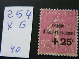 No  254 Neuf * - Caisse D'Amortissement