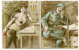 Couple. Poilu De La Grande Guerre. Un Amour Ardent En Souffrance. - Couples