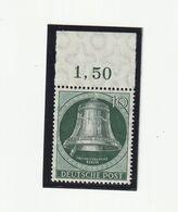 Berlin 1951 Michel Nr. 76 OR ** Postfrisch, Freiheitsglocke, Klöppel Links, Oberrand - Nuovi