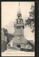 CPA Locquenolé, Le Clocher De L'Eglise - Non Classés