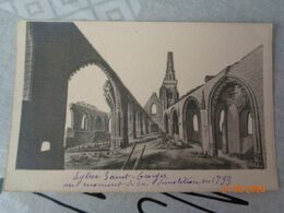 ABBEVILLE  :église Saint-Georges Au Moment De Sa Démolition En 1793  , (descriptif Au Dos) - Abbeville