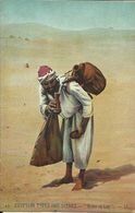 """EGYPTIAN TYPES AND SCENES , """" Water Of Life """" , Porteur D'eau , 1915 - Egypt"""