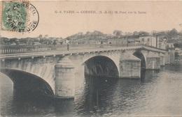 Corbeil : Pont Sur La Seine (Voyagé 1907) AMITIÉ De Petit Pierre - Corbeil Essonnes