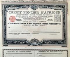 Crédit Fonçier D'Afrique, Certificat D'Actions A - Banco & Caja De Ahorros