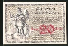 Notgeld St. Florian Am Inn 1920, 20 Heller, St. Florian, Ortsansicht Mit Dampfer - Austria