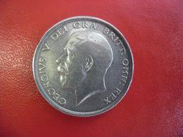MONNAIE ROYAUME UNI ARGENT 92,5% - 1/2 CROWN 1916 Demi Couronne 14,14 Grammes Pour 32,3 Mm - 1902-1971 : Monete Post-Vittoriane