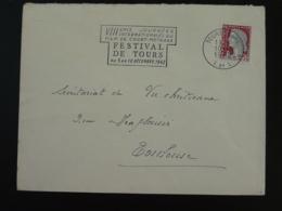 37 Indre Et Loire Tours Festival Court Métrage Short Film 1962 (ex 1) - Flamme Sur Lettre Postmark On Cover - Film