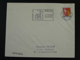 37 Indre Et Loire Tours Gare Visitez La Touraine 1966 - Flamme Sur Lettre Postmark On Cover - Marcofilie (Brieven)