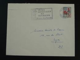 37 Indre Et Loire Tours Fêtes Musicales 1965 (ex 1) - Flamme Sur Lettre Postmark On Cover - Marcofilie (Brieven)