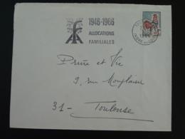 37 Indre Et Loire Tours Allocations Familiales 1966 - Flamme Sur Lettre Postmark On Cover - Marcofilie (Brieven)