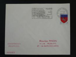 37 Indre Et Loire Tours Grammont Musée Du Gemmail 1968 - Flamme Sur Lettre Postmark On Cover - Marcofilie (Brieven)