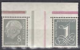 BRD  WZ 15 AI X, Postfrisch **, Heuss Und Ziffer 1958/60 - [7] Federal Republic