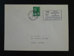 37 Indre Et Loire Tours Fêtes Musicales 1975 (ex 2) - Flamme Sur Lettre Postmark On Cover - Muziek
