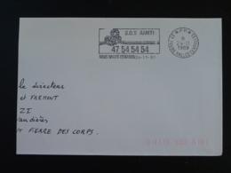 37 Indre Et Loire Tours Halles Centrales Telephone SOS Amitié 1989 PP Port Payé - Flamme Sur Lettre Postmark On Cover - Telecom