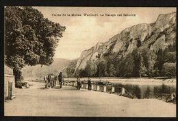Waulsort - Halage Des Bâteaux - Vallée De La Meuse - 2 Scans - Hastière