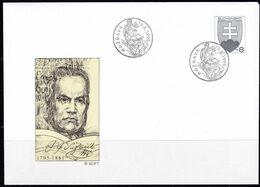 Slowenko, 1996,  U 2, Pavol Jozef Safaric - Postal Stationery