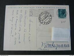 """417 ITALIA Repubblica Interi-1955- Storia Postale """"Turrita"""" L. 20 USº (descrizione) - Interi Postali"""