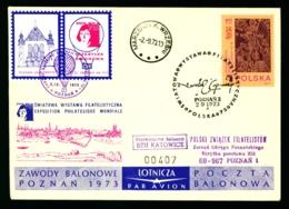 Polen 1973 Ballon Flugbeleg Gemäss Scan - Ballonpost