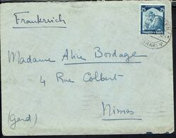 "Allemagne - 1935 - N° 527 Seul Sur Enveloppe De Dillingen Pour Nimes- Bande ""Fernuberwachung Zollamtlich Geoffnet"" Verso - Brieven En Documenten"