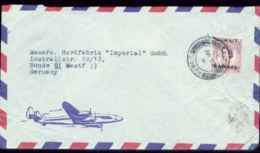 07247 Kuwait England LUPO Brief  - Bünde 1955 - Kuwait