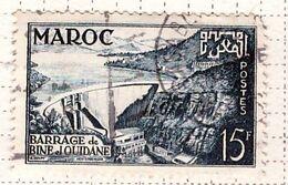 PIA - MAROCCO - 1953 :Inaugurazione Della Diga Di Bine El Ouidane-: (Yv 324) - Gebraucht
