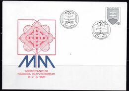 Slowenko, 1996,  U 8 I, Memorandum Des Slowakischen Volkes - Postal Stationery