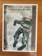 Ehemalige Propaganda  Karte Im III. Reich, KRETA 20. Mai 1941, Bundestreffen Ehemaliger Fallschirmjäger - Weltkrieg 1939-45