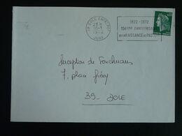 39 Jura Dole Entrepot 150 Ans Naissance Louis Pasteur Pasteur 1972 - Flamme Sur Lettre Postmark On Cover - Louis Pasteur
