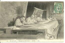 60  BEAUVAIS  La Manufacture  - Atelier   Cpa Voyagée En 1907 - Beauvais