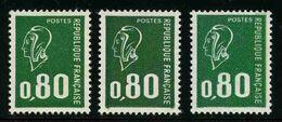 FRANCE - YT 1891, 1891b Et 1891c - Marianne De Bequet - 3 TIMBRES NEUFS ** - 1971-76 Marianne Van Béquet