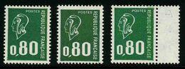 FRANCE - YT 1891, 1891b Et 1891c - Marianne De Bequet - 3 TIMBRES NEUFS ** - 1971-76 Marianna Di Béquet