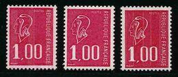 FRANCE - YT 1892, 1892b Et 1892c - Marianne De Bequet - 3 TIMBRES NEUFS ** - 1971-76 Marianna Di Béquet