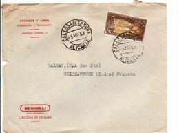 ESPAGNE SEUL SUR LETTRE POUR LA FRANCE 1963 - 1931-Heute: 2. Rep. - ... Juan Carlos I