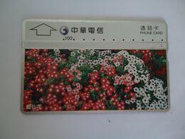 TAIWAN USED CARDS  FLOWERS - Taiwan (Formosa)