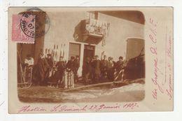 CARTE PHOTO - HOSTIAZ - ANCIENNE COMMUNE DE L'AIN - GROUPE DE C.A.F. LUGEURS ET SKIEURS - 1907 - 01 - Frankrijk