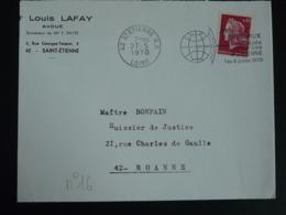 42 Loire Saint Etienne RP Jeux Mondiaux Handicappés Physiques 1970 (ex 2)  - Flamme Sur Lettre Postmark On Cover - Handisport