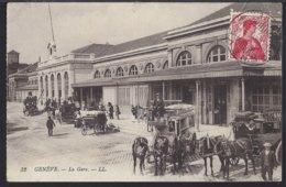 Genève - La Gare - Bahnhof - Diligence - Postkutsche - 1912 - GE Ginevra