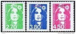France Marianne Du Bicentenaire N° 3005 + 3006 + 3007 ** Briat - Les 2f70 - 3f80 - 4f50 Vert Bleu Rose - 1989-96 Maríanne Du Bicentenaire