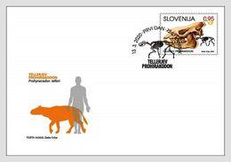Slovenia 2020 FDC Fossil Mammals - Fósiles