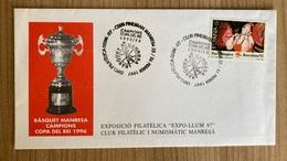 Spain 1995 Cancellation Basketball Manresa Kings Cup 1995-96 Basket Manresa - 1991-00 Cartas