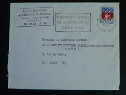 45 Loiret Orléans RP Recensement 1968 - Flamme Sur Lettre Postmark On Cover - Oblitérations Mécaniques (flammes)