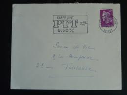 45 Loiret Orléans Gare Emprunt PTT 6.50% 1968 - Flamme Sur Lettre Postmark On Cover - Oblitérations Mécaniques (flammes)