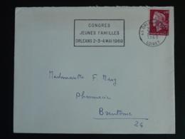 45 Loiret Orléans Gare Congrès Jeunes Familles 1969 - Flamme Sur Lettre Postmark On Cover - Oblitérations Mécaniques (flammes)
