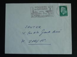 45 Loiret Pithiviers Train à Vapeur 1969 - Flamme Sur Lettre Postmark On Cover - Trains